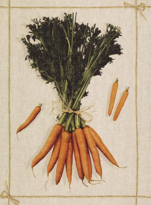 Carrots Italian Linen Tea Towel
