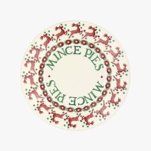 "Emma Bridgewater Reindeer Border 8 1/2"" Mince Plate"