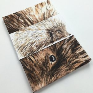 Hedgehog Tea Towel by Clare Baird