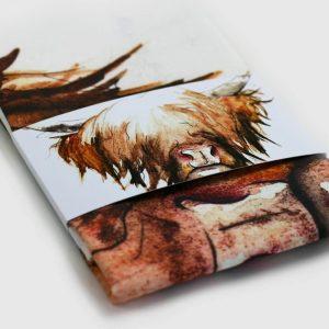 Highland Cow Tea Towel by Clare Baird
