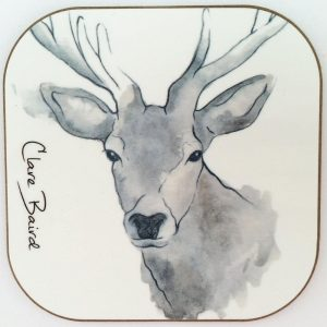 Highland Stag Coaster by Clare Baird