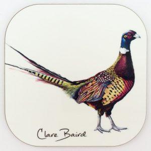Pheasant Coaster by Clare Baird