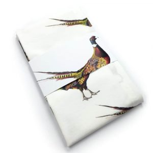 Pheasant Tea Towel by Clare Baird