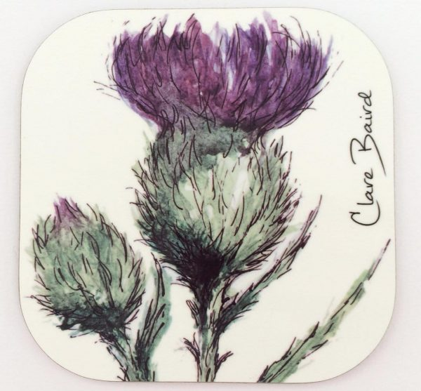 Thistle Coaster by Clare Baird