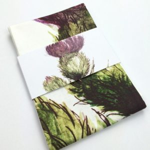Thistle Tea Towel by Clare Baird