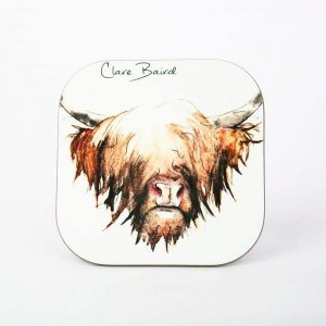 Highland Cow Coaster - by Clare Baird