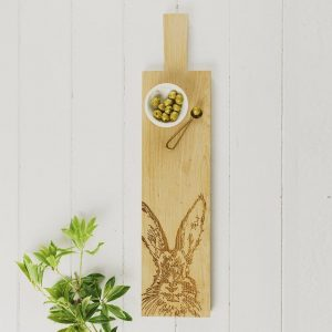 Long Hare Oak Serving Paddle - Scottish Oak