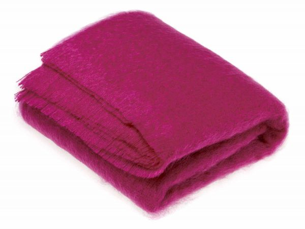 Cactus Pink Mohair Throw