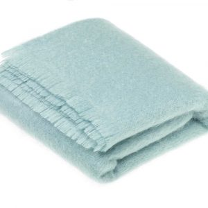 Aqua Mohair Throw – Bronte by Moon