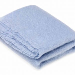 Paradise Blue Mohair Throw - Bronte by Moon