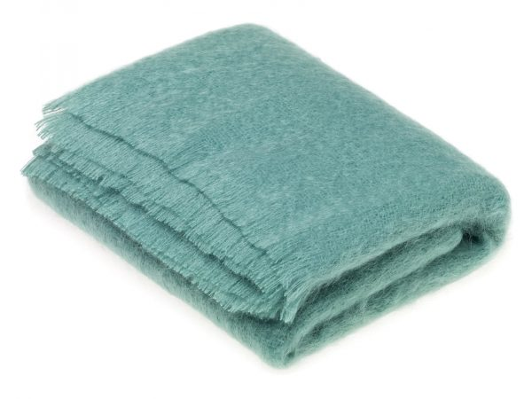 Tropical Jade Mohair Throw - Bronte by Moon