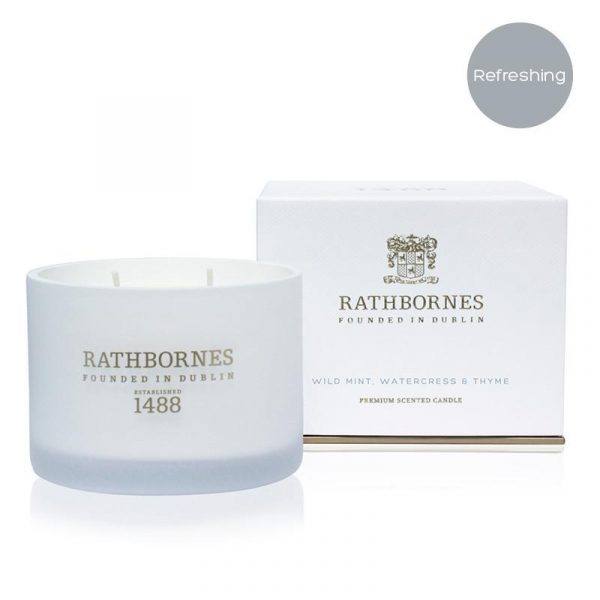 Wild Mint, Watercress & Thyme Scented Classic Candle By Rathbornes