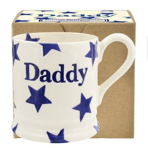 Emma Bridgewater Blue Star Daddy 1/2 Pint Mug