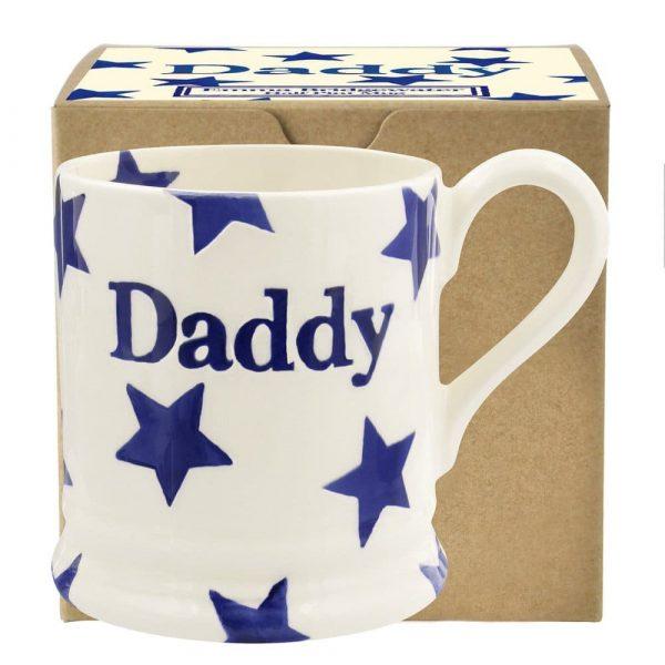 Emma Bridgewater Blue Star Daddy 1/2 Pint Mug