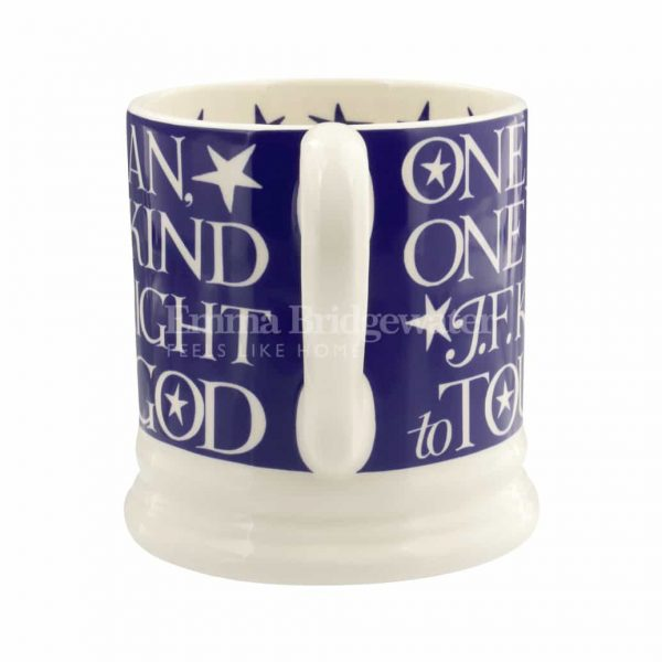 Blue Toast 'One Small Step for Man, One Giant Leap for Mankind Moon Landing 1/2 Pint Mug