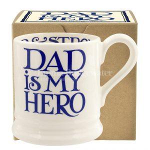Emma Bridgewater Blue Toast Dad is My Hero 1/2 Pint Mug