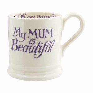 Emma Bridgewater Love & Wild Flowers Mum is Beautiful 1/2 Pint Mug