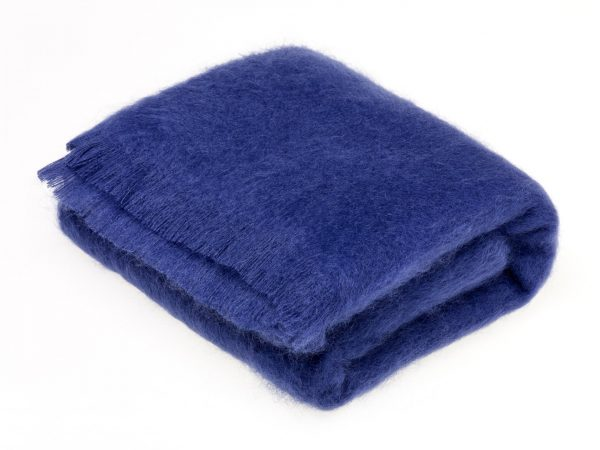 Indigo Mohair Throw by Bronte