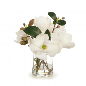 Magnolia Mix in Vase White 28cm