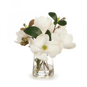 Magnolia Mix in Vase White 28cm