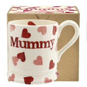 Emma Beidgewater Pink Hearts Mummy 1/2 Pint Mug