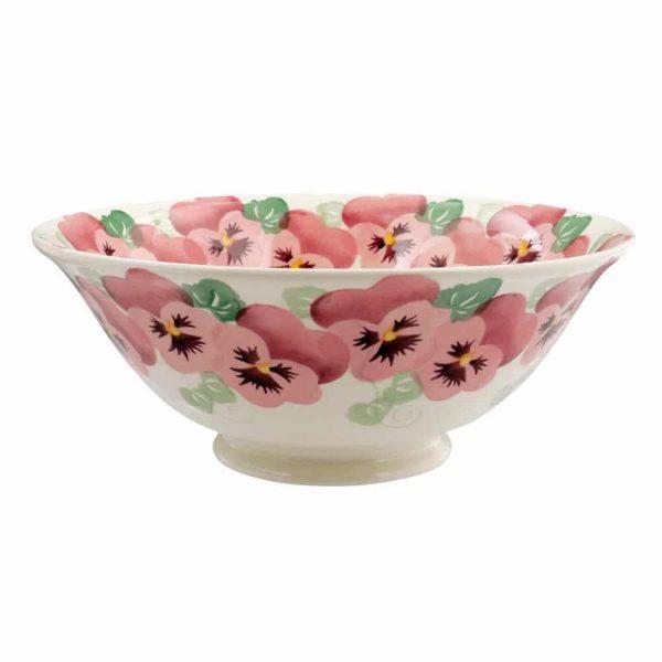 Emma Bridgewater Pink Pansy Medium Serving Bowl