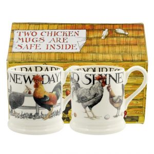 Emma Bridgewater Rise & Shine Set of 2 1/2 Pint Mug Boxed