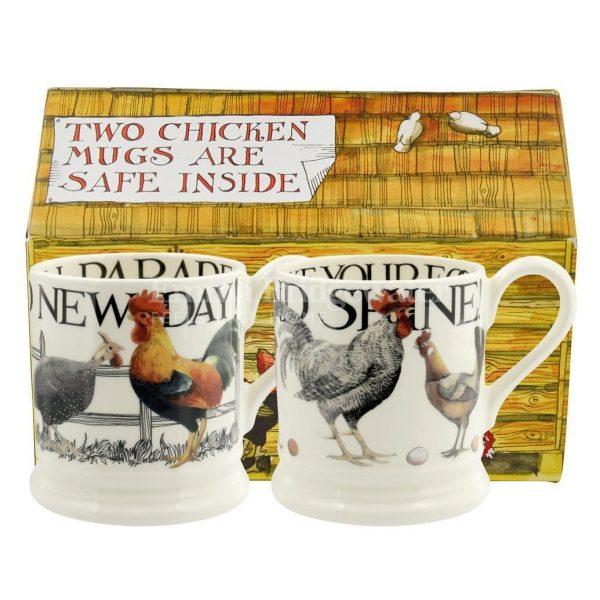 Emma Bridgewater Rise & Shine Set of 2 1/2 Pint Mug Boxed