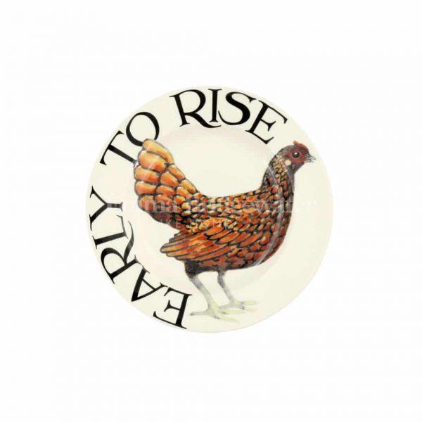 "Emma Bridgewater Rise & Shine Early to Rise 6 1/2"" Plate"