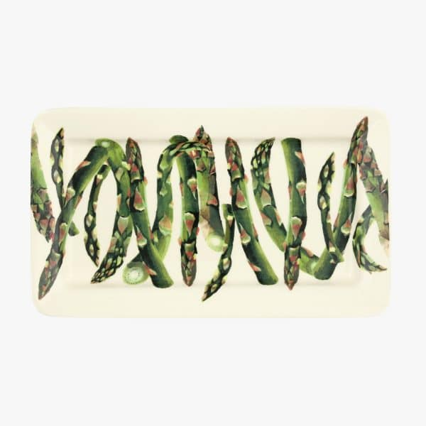 Veg Garden Asparagus Medium Oblong Plate