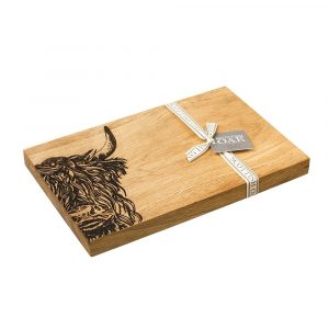 Highland Cow Serving Board - Scottish Oak