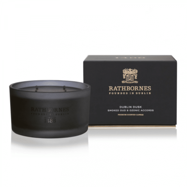 Luxury Candle - 'Dublin Dusk' Smoked Oud & Ozone Accords