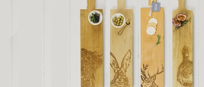 Scottish Made Oak Serving Paddles