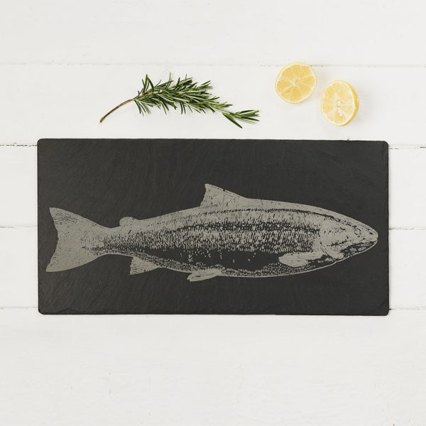 Slate Salmon Table Runner