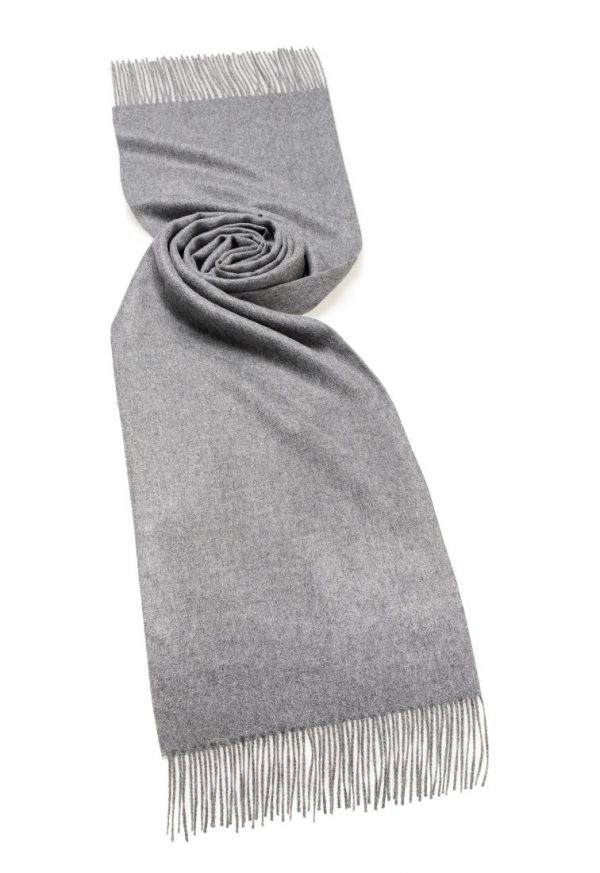 Alpaca Plain Stole - Natural Grey - Bronte by Moon