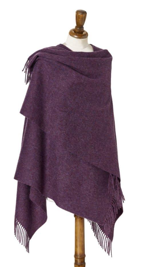 Bronte Mini Ruana Purple Heather Large