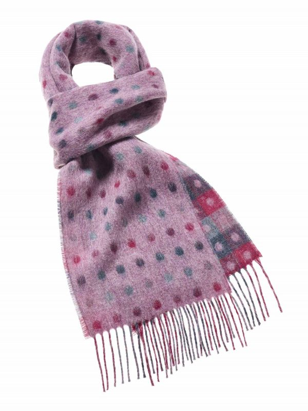Multi Spot Scarf - Lilac - Bronte by Moon