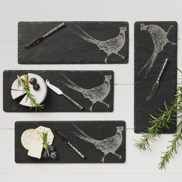 Pheasant Mini Cheese Boards with Mini Cheese Knives