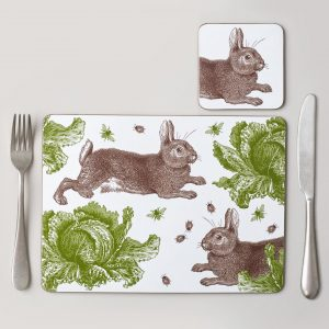 Thornback & Peel - Classic Rabbit & Cabbage Placemat