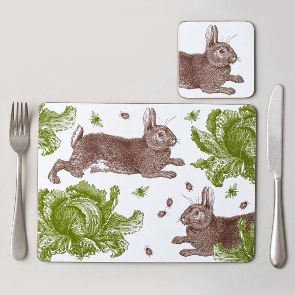 Thornback & Peel - Classic Rabbit & Cabbage Placemat