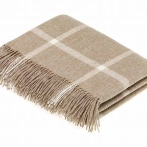 Windowpane Throw - Beige - Bronte by Moon