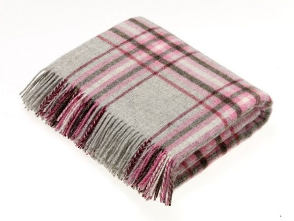National Trust Collection Throw - Killerton Grey - Bronte by Moon
