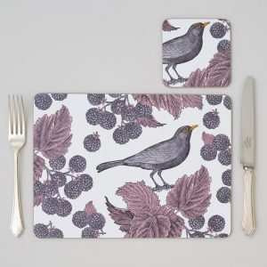 Thornback & Peel - Blackbird & Bramble Coaster (set of four)