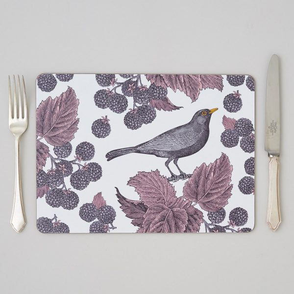 Thornback & Peel - Blackbird & Bramble Placemat (set of four)