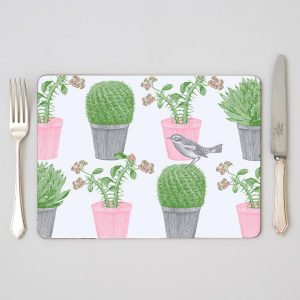 Thornback & Peel - Cactus & Bird Placemat (set of four)