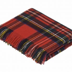 Lambswool Tartan Throw - Royal Stewart - Bronte by Moon