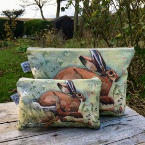 Hare Cosmetic Bag - Mary Ann Rogers