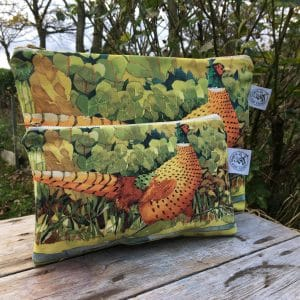 Pheasant Cosmetic Bag - Mary Ann Rogers