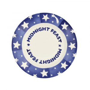 Blue Shooting Star 'Midnight Feast' Eight And A Half Inch Plate