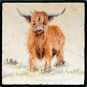 Highland Cow Large Platter - Kate of Kensington